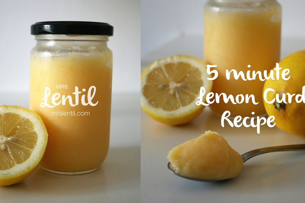 5 minute lemon curd recipe
