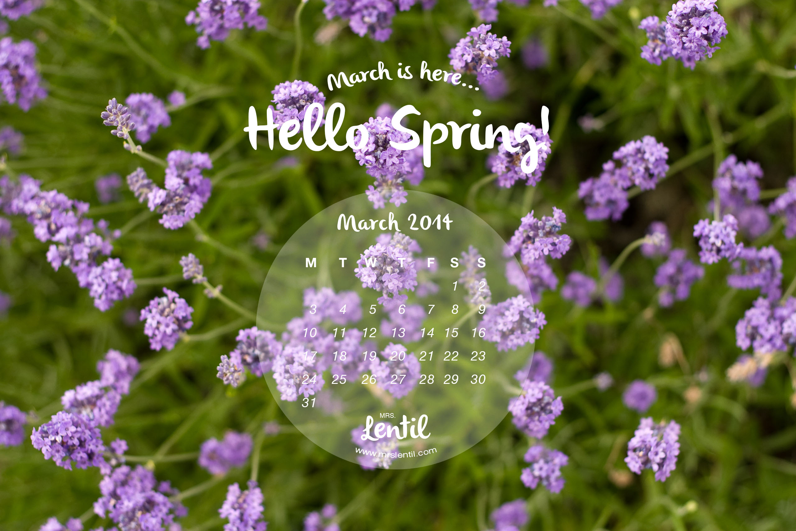 hello spring march 2014 calendar by mrs lentil