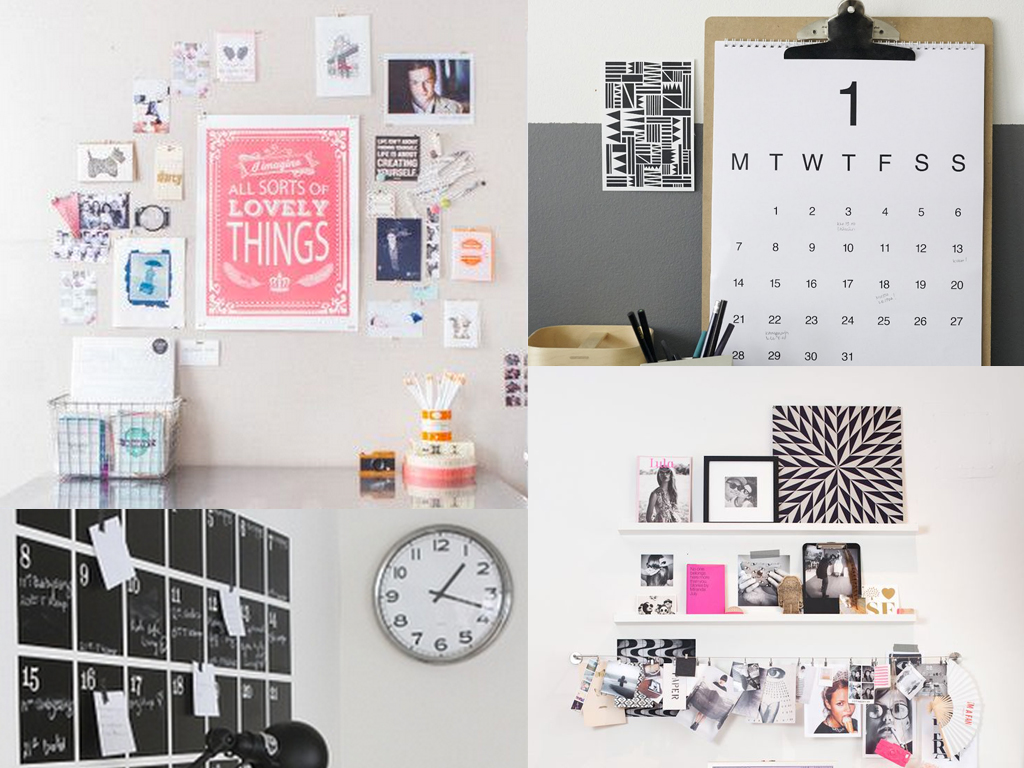 wall organization and visual planning